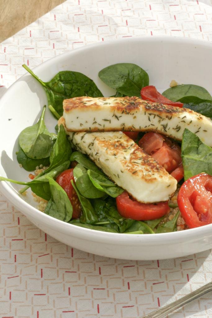 Berloumi salade