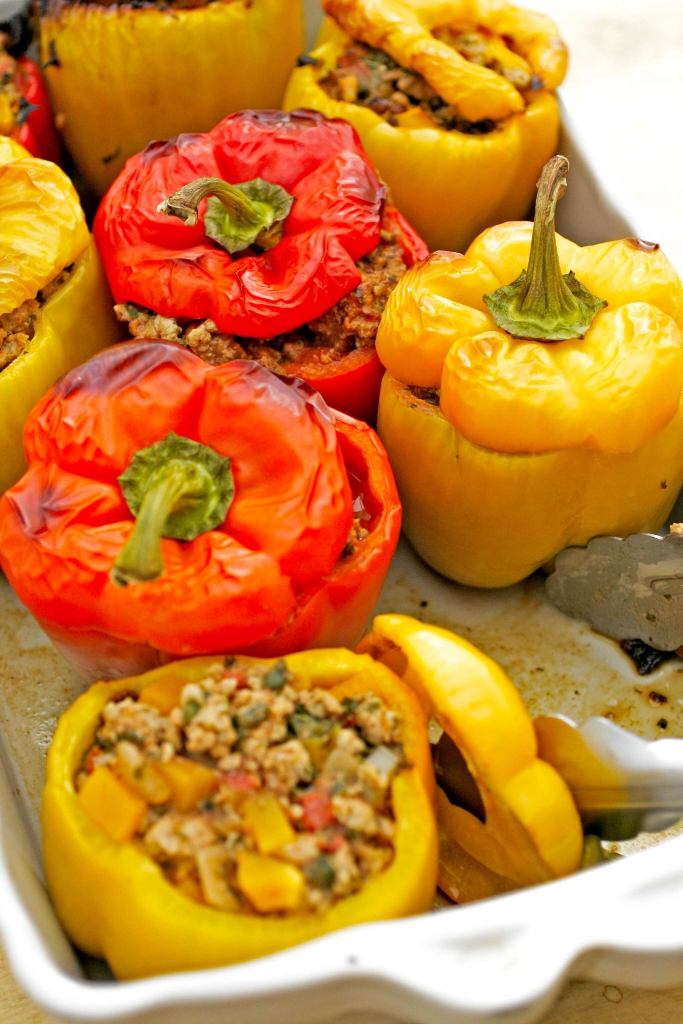gevulde-paprika's