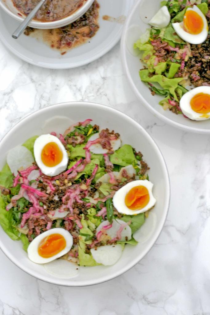 salade-met-spekjesdressing
