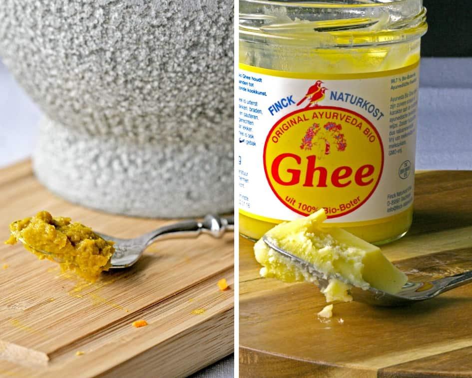 kurkuma pasta en ghee