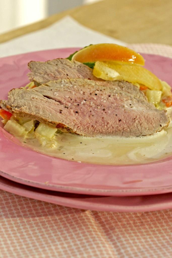 kaflsvlees met appel en spitskool